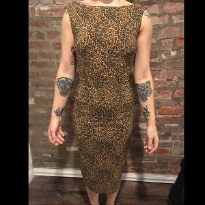 Bettie Page Vixen Leopard Print Dress